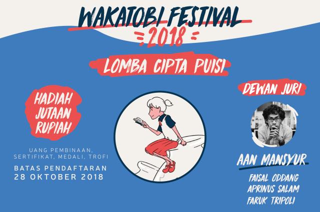 Lomba Menulis Wakatobi Festival 2018 (DL Diperpanjang: 28 Oktober 2018)